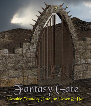 Fantasy Gate 3D Models Simon-3D