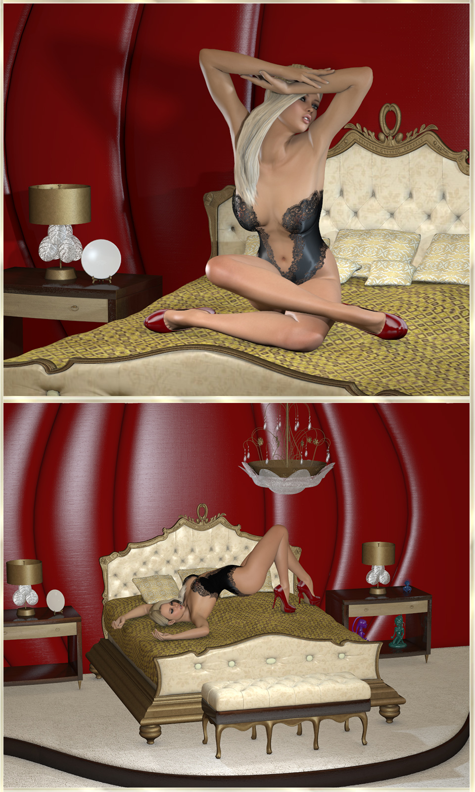 Z luxuriant bedroom poses 3d figure essentials 3d models for Z luxuriant bedroom poses