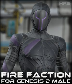 HFS Fire Faction for G2M - Extended License 3D Figure Essentials Gaming DarioFish