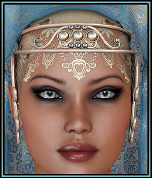 Oriental Fascination for Headdresses Grace 3D Figure Assets boundless
