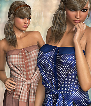 Casual for Strapless Shirt & Skirt 3D Figure Essentials Atenais
