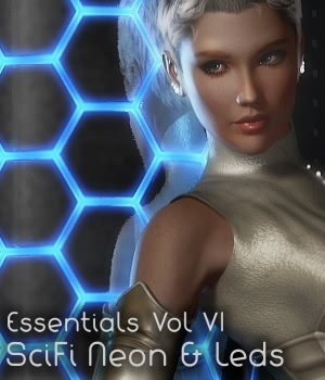 Essentials Vol VI SciFi Neon+Leds 3D Figure Assets 3D Models fabiana