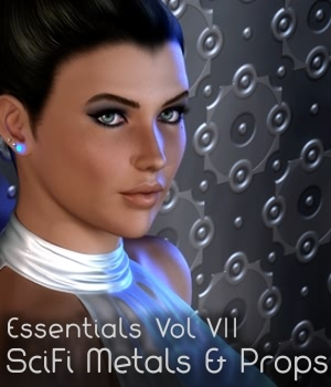 Essentials Vol VII SciFi Metals+Props 3D Figure Essentials 3D Models fabiana