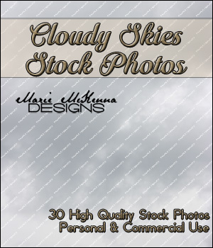 Cloudy Skies Stock Photos 2D Graphics MarieMcKennaDesigns