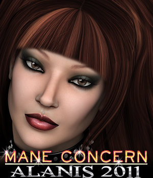 Mane Concern: Alanis Hair 3D Figure Essentials 3DSublimeProductions