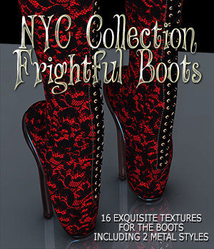 NYC Collection: Frightful Boots 3D Figure Essentials 3DSublimeProductions