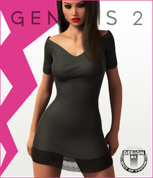 Fashion Blizz - Little Black Dress for Genesis 2 Female(s) 3D Figure Essentials outoftouch