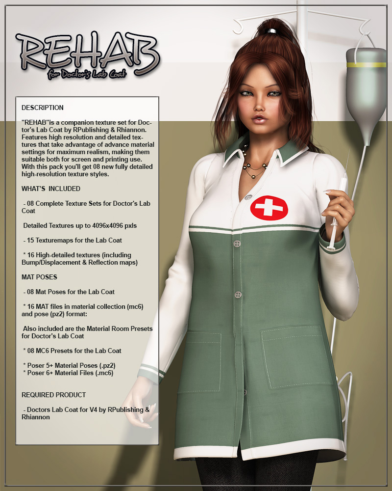 REHAB for Doctor's Lab Coat