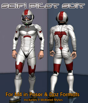 M4 SciFi Pilot 3D Figure Essentials Simon-3D