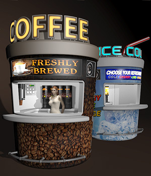 Urban Jungle_Beverage Kiosks 3D Models coflek-gnorg