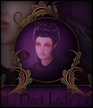 Dark Lady - Mini Kit 2D Graphics Merchant Resources antje