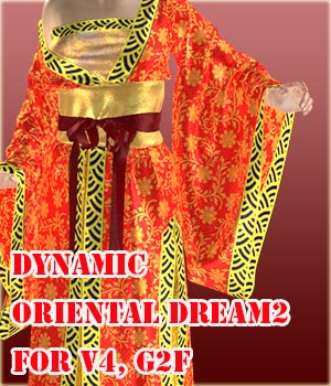 Dynamic Oriental Dream2 for V4, G2F 3D Figure Essentials zollacce