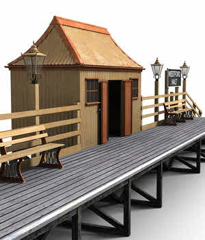 GWR Halt and Pagoda 3D Models DryJack