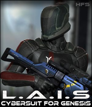 HFS CyberSuit: LAIS - Extended License 3D Figure Essentials Gaming DarioFish