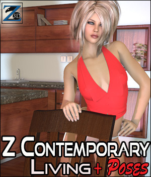 Z Contemporary Living + Poses 3D Figure Essentials 3D Models Zeddicuss