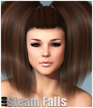 Steam Falls Hair and OOT Hairblending 3D Figure Essentials outoftouch