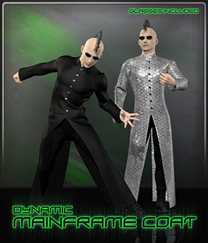 Dynamic Mainframe Coat 3D Figure Assets Frequency