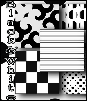 Black and White seamless Patterns 2D Graphics Merchant Resources antje
