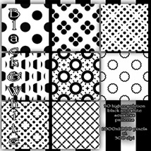 Black and White seamless Patterns image 1