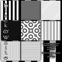 Black and White seamless Patterns image 2
