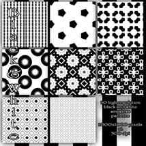 Black and White seamless Patterns image 3