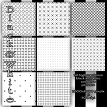 Black and White seamless Patterns image 4