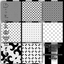 Black and White seamless Patterns image 5