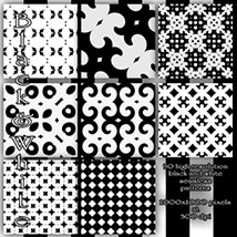 Black and White seamless Patterns image 6