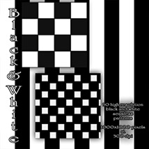 Black and White seamless Patterns image 7
