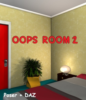 Oops Room2 - Extended License 3D Models Gaming greenpots