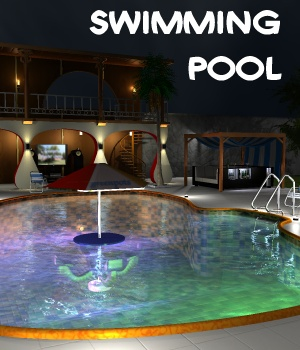 Swimming pool - Extended License 3D Models Gaming greenpots