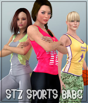 STZ Sports Babe for V4 3D Figure Essentials santuziy78