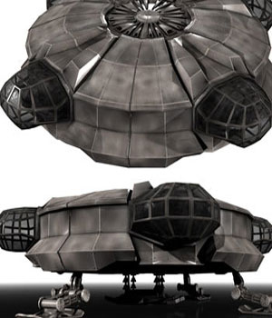 Void Prime: Grey Alien Recon Ship Construction Kit 3D Models sixus1