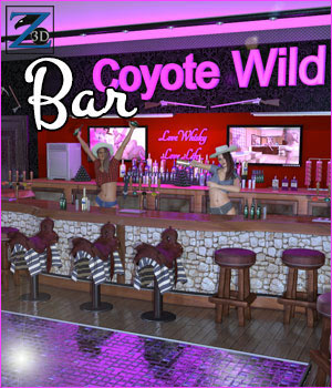 Z Coyote Wild Bar 3D Figure Essentials 3D Models Zeddicuss