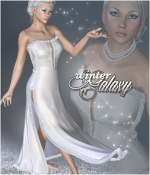 Winter Galaxy  V4 Dress 3D Figure Essentials P3D-Art