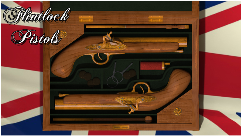 Flintlock Pistol and case - Extended License