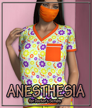 ANESTHESIA for Doctor's Scrubs 3D Figure Essentials Anagord