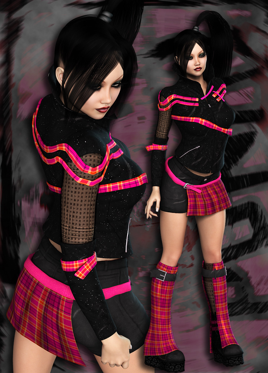 Nyc couture punky pop by rpublishing 3d figure assets for What s a couture pop