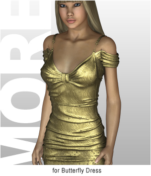 MT&S for Butterfly Dress 3D Figure Assets motif
