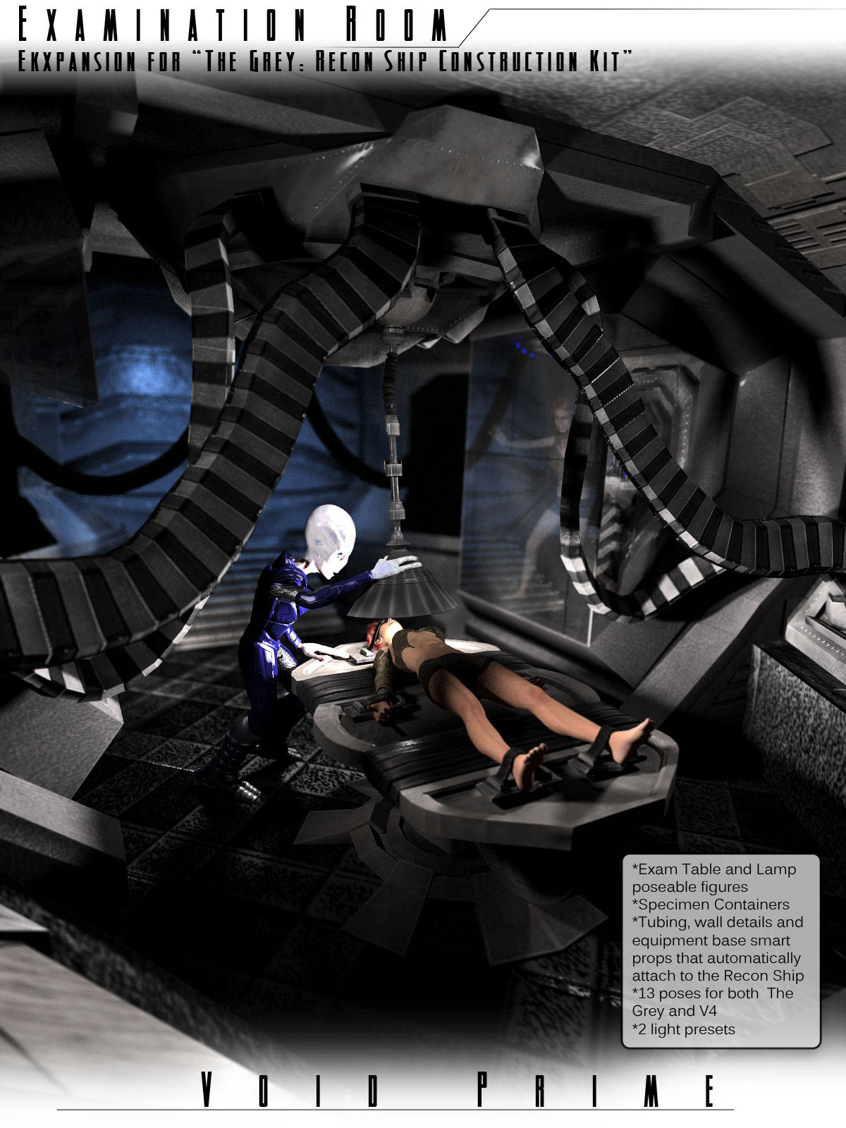 Void Prime: Grey Alien Recon Ship Construction Kit - Exam Room