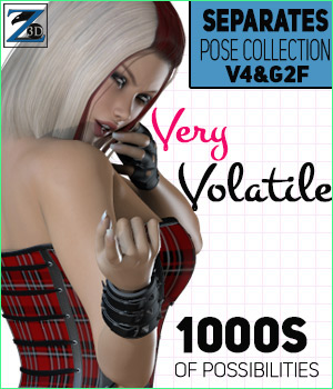 Z Very Volatile - Separates Collection - V4-G2F 3D Figure Assets Zeddicuss
