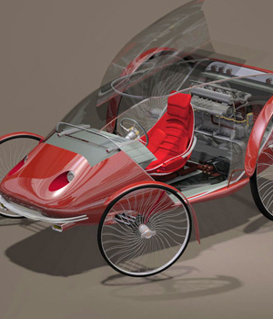 MS14 Spider Runabout 3D Models London224