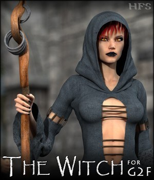 HFS Witch for G2F 3D Figure Assets DarioFish