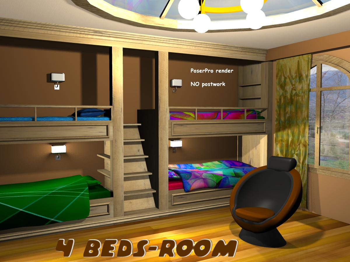4 Beds-Room - Extended License