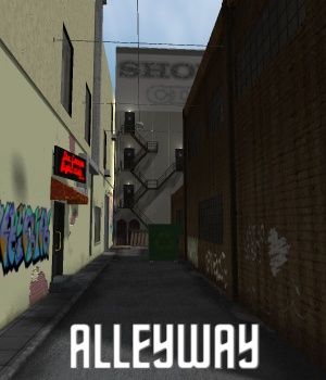 Alleyway - Extended License 3D Models Gaming greenpots