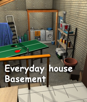 Everyday house Basement - Extended License Gaming 3D Models greenpots