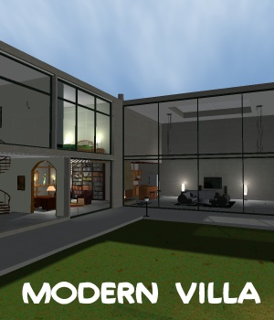 Modern Villa - Extended License 3D Models Gaming greenpots