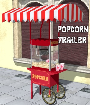 Popcorn Trailer - Extended License 3D Models Gaming greenpots
