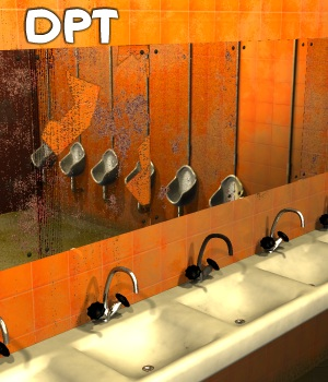 DPT (Dirty Public Toilet) - Extended License 3D Models Gaming\Extended Licenses greenpots