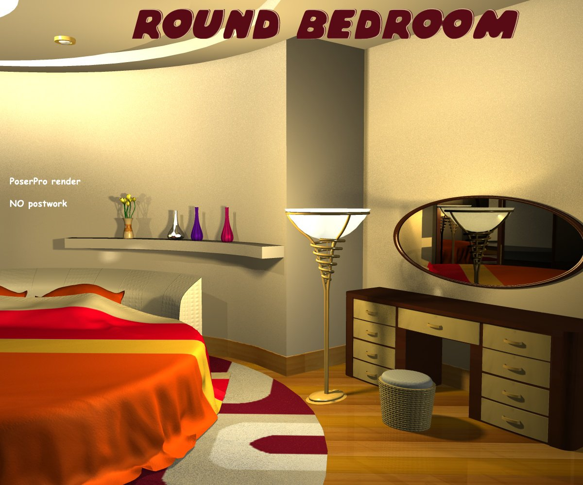 Round bedroom - Extended License